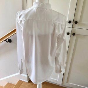Uniqlo Tops - UNIQLO White Cotton/poly Shirt, sz L